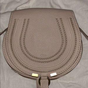 CHLOE Calfskin Mini Marcie Round Crossbody Bag